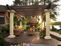 Gorgeous Patio With Pergola & Fireplace Pictures, Photos ...
