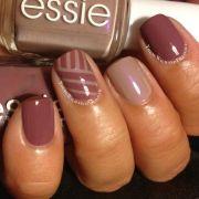 fall striping tape manicure