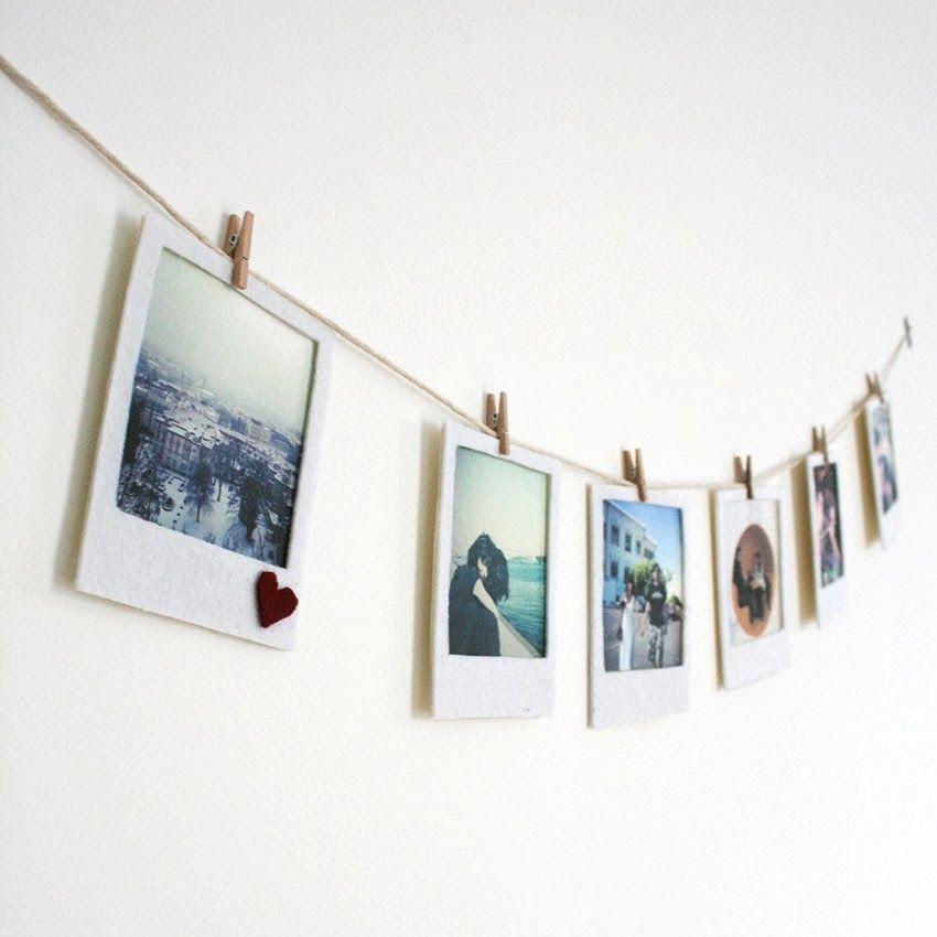 felt polaroid banner pictures