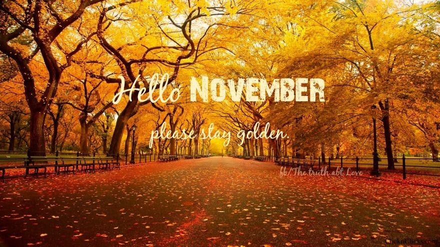 Fall Scripture Wallpaper Hello November Pictures Photos And Images For Facebook