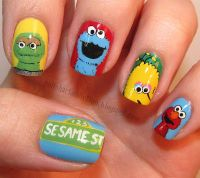 Sesame Street Nail Art Pictures, Photos, and Images for