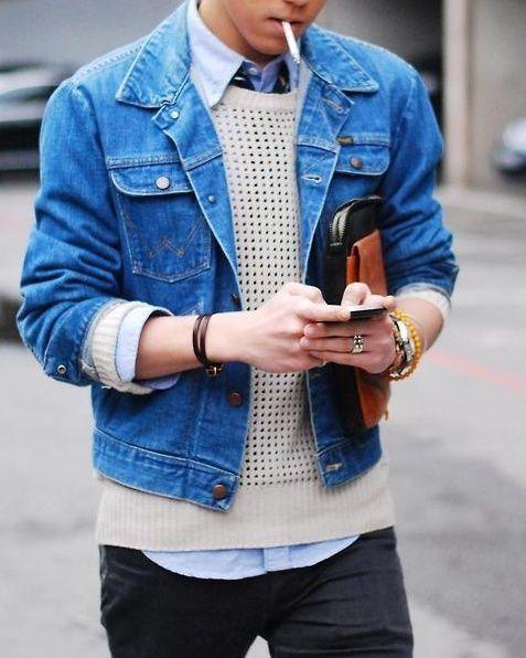 blue denim jacket pictures