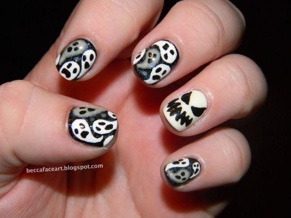 Halloween Ghost Nail Art Designs
