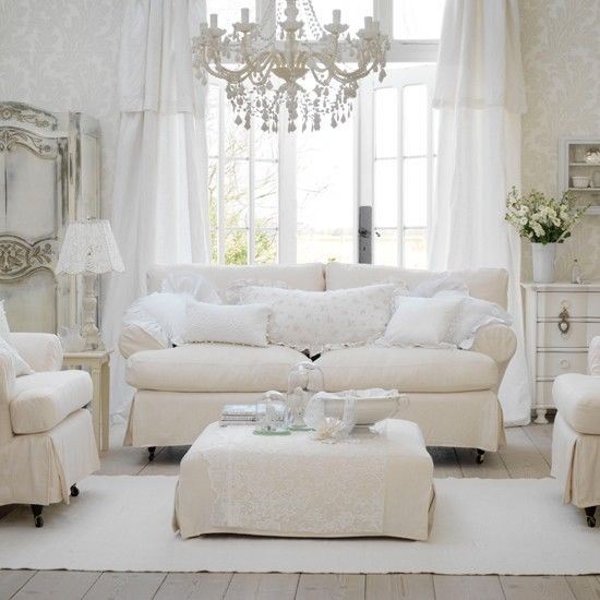 shabby chic living rooms pictures accent wall ideas for small room all white photos and images