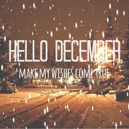 Sparkle Quote Wallpaper Hello December Make My Wishes Come True Pictures Photos