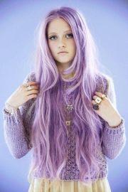 lavender light purple hair chalk