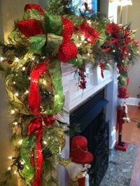 Beautiful Christmas Garland For Fireplace Mantle Pictures ...