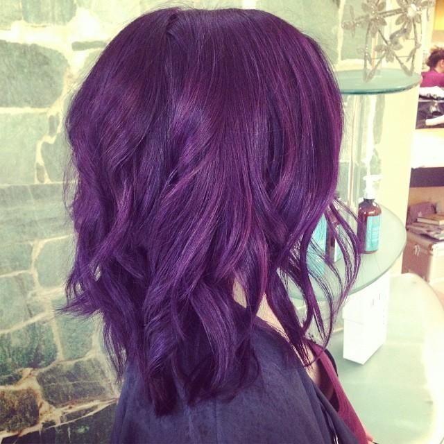 short purple haircut