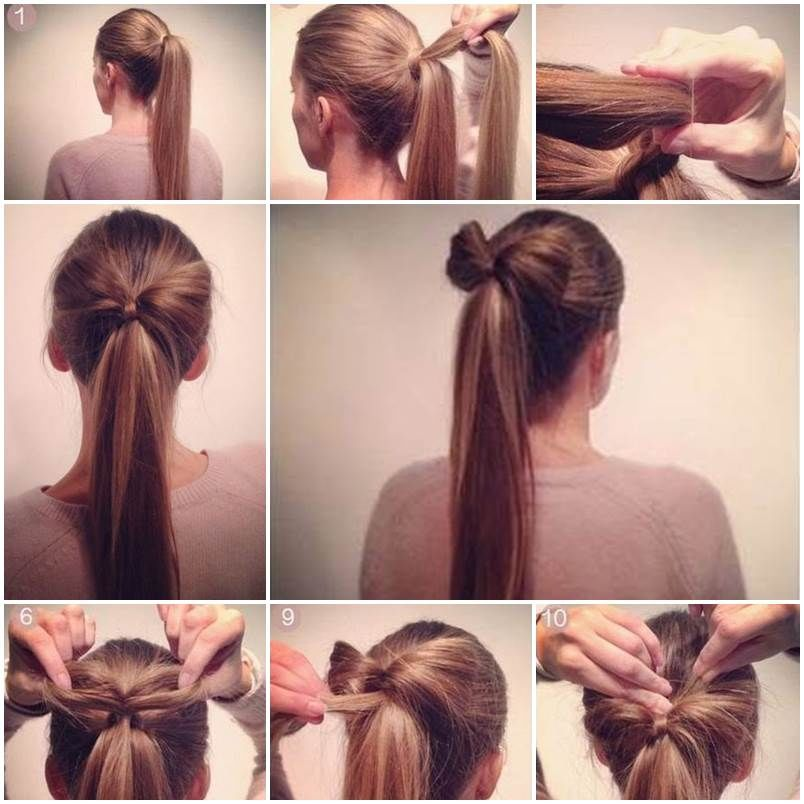 How To Make A Bow Ponytail Pictures Photos and Images