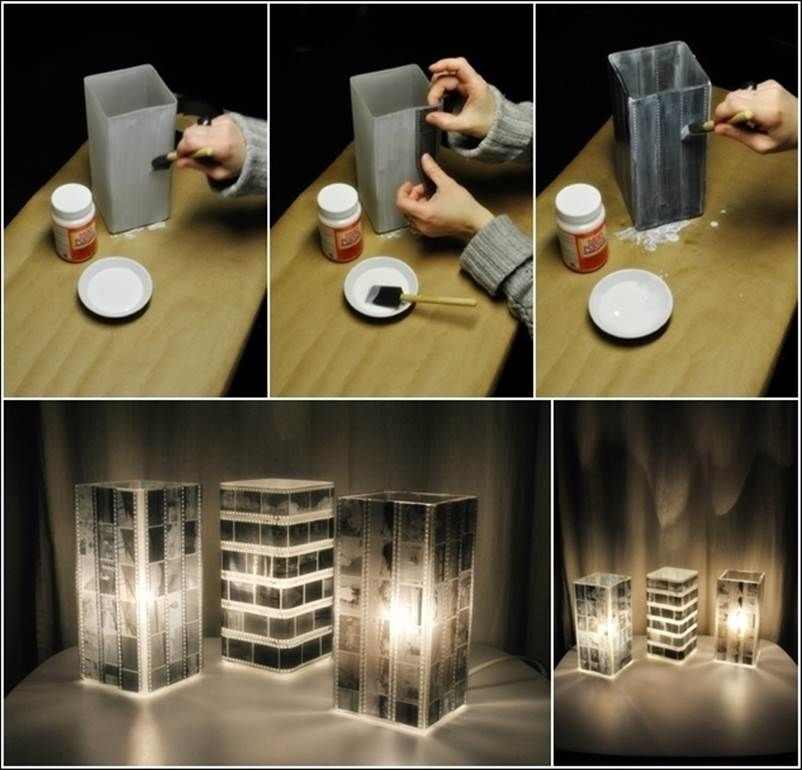 Create A Lamp Shape With Photo Negatives Pictures Photos