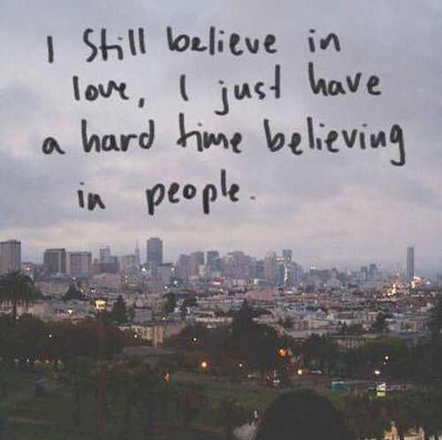 I still believe in love