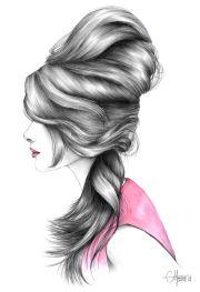 hairstyle fashion illustration