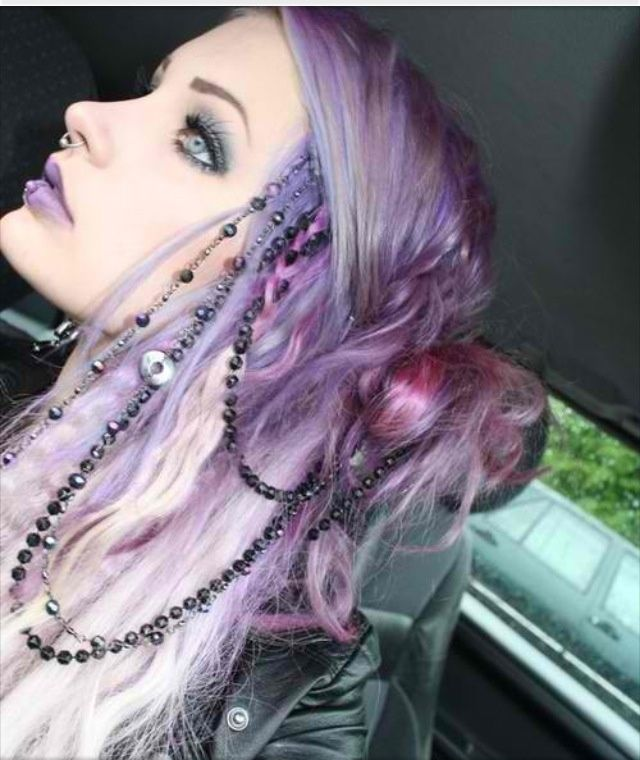 pretty pink and purple hair