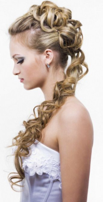 Spiral Half Updo Wedding Hairstyle Pictures Photos And