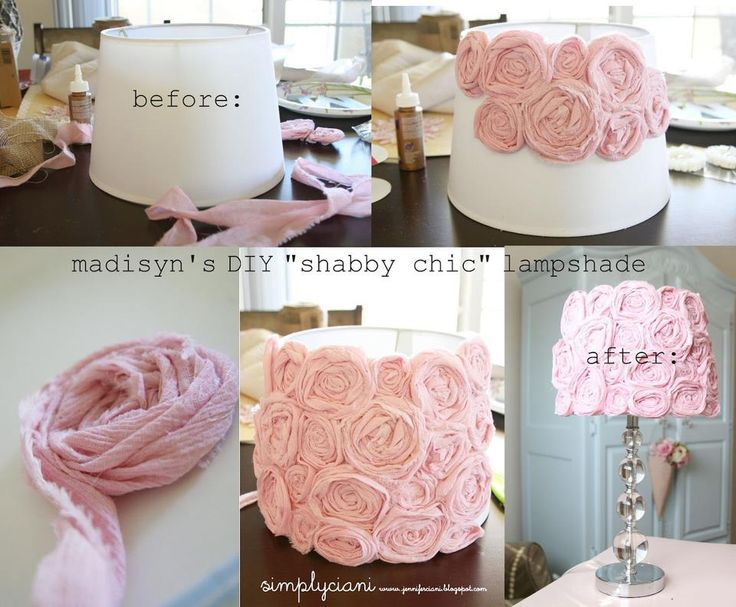 DIY Shabby Chic Lamp Makeover Pictures, Photos, and Images