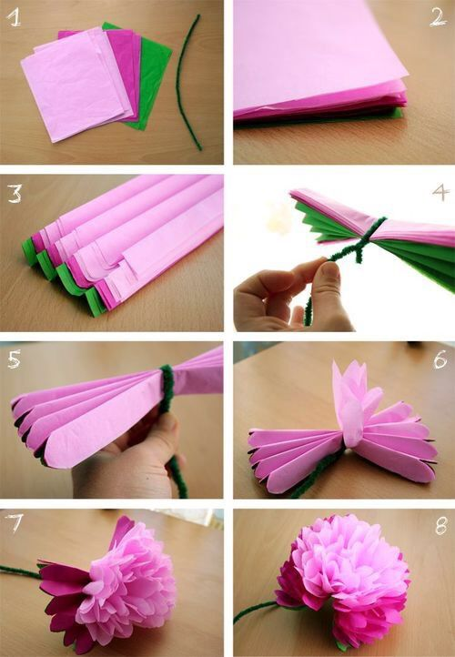 DIY Tissue Paper Flowers Pictures Photos and Images for Facebook Tumblr Pinterest and Twitter