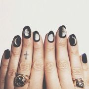 black moon nail art