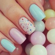 cute pastel nails easter