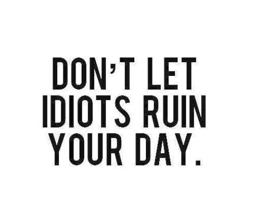 Don't Let Idiots Ruin Your Day Pictures, Photos, and