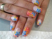 exotic tropical nail art