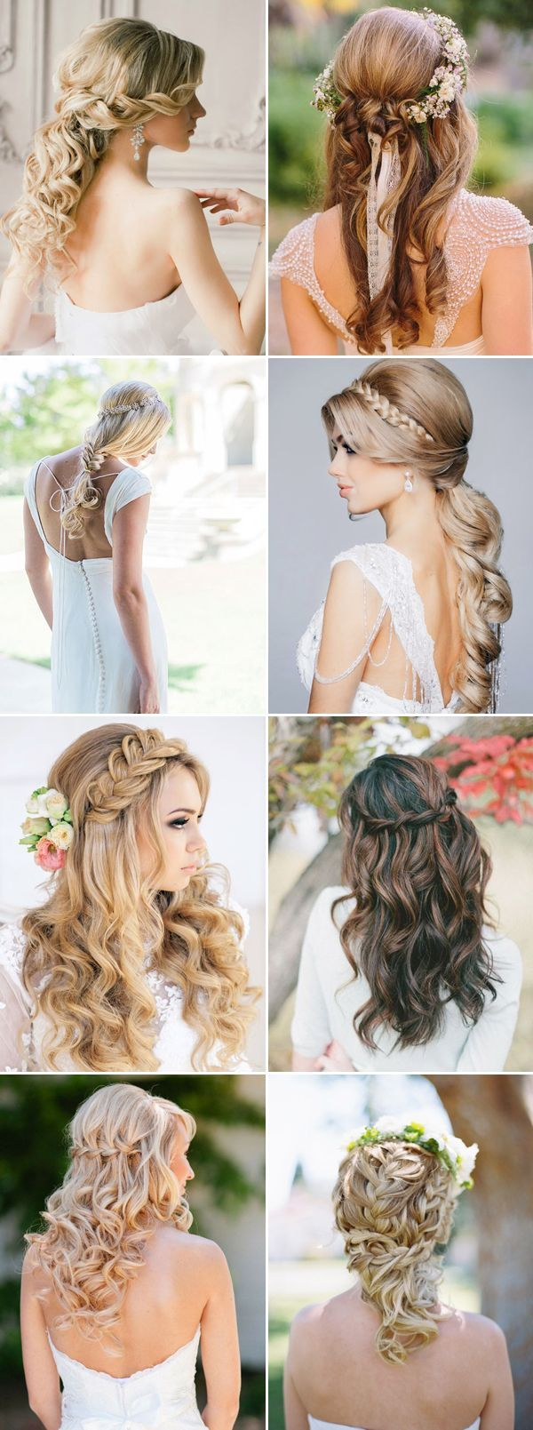 Half Up Half Down Wedding Hairstyles Pictures Photos and Images for Facebook Tumblr