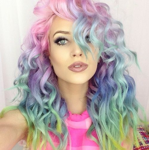 Wavy Rainbow Hair Pictures Photos and Images for Facebook Tumblr Pinterest and Twitter