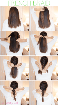 French Braid Tutorial For Medium Hair Pictures, Photos ...