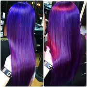 long blue purple and pik ombre