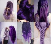 purple hairstyles long hair