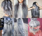 gray hairstyles long hair