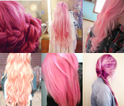 pretty pink hairstyles long