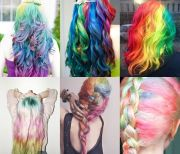 rainbow ombre hairstyles