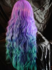 long green purple and blue ombre