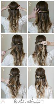 headband hair tutorial