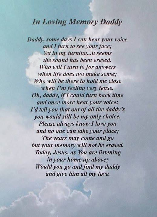 Missing Daughter My Heaven Quotes Dad