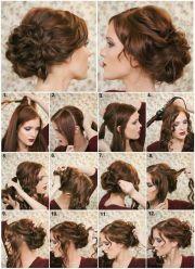 diy fancy bun hairstyle
