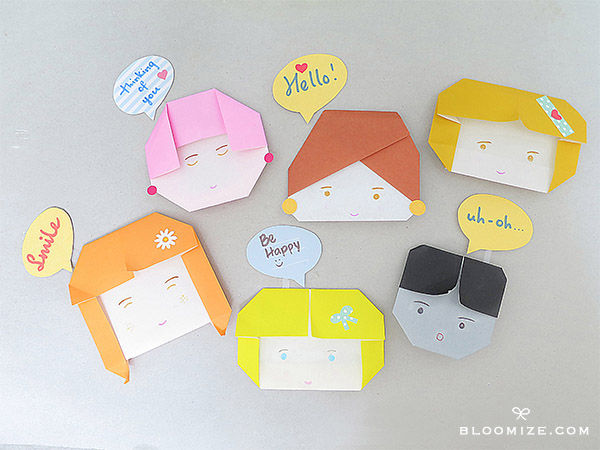 Origami Paper Doll Face Pictures Photos And Images For