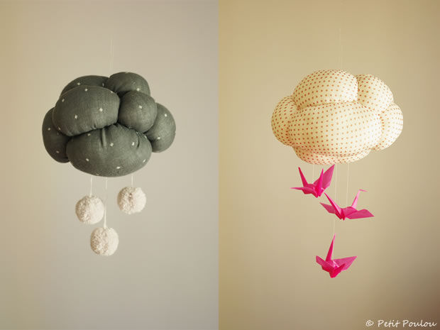 cloud origami mobile pictures