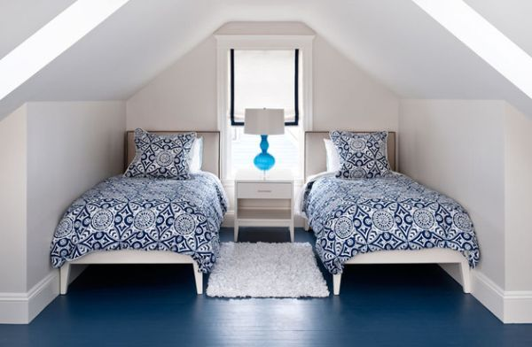Navy Blue Painted Floor For The Bedroom Pictures Photos