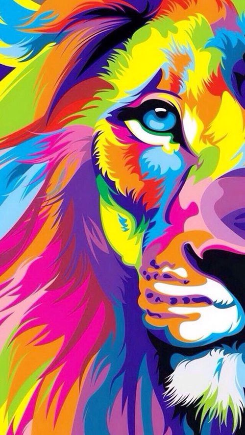 So Cute Good Morning Wallpapers Colorful Lion Illustration Pictures Photos And Images