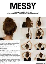 messy bun tutorial