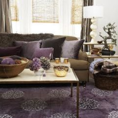 Rugs To Go With Chocolate Brown Sofa Sure Fit Covers Canada Modern Living Room Purple Rug Couch Cushions And Curtains