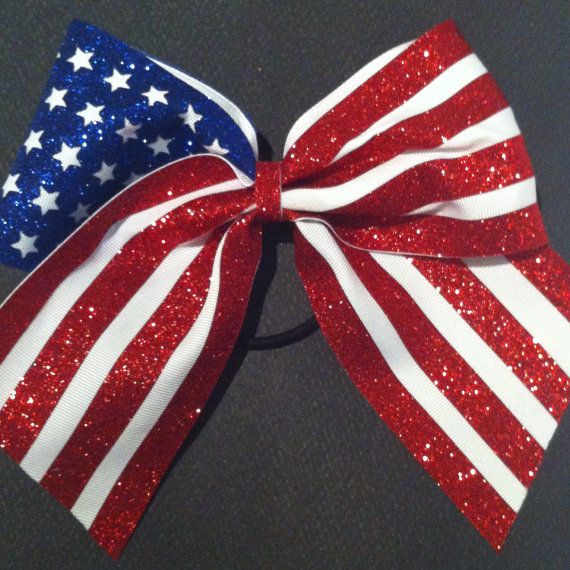 Glitter American Flag Cheer Bow Pictures Photos And
