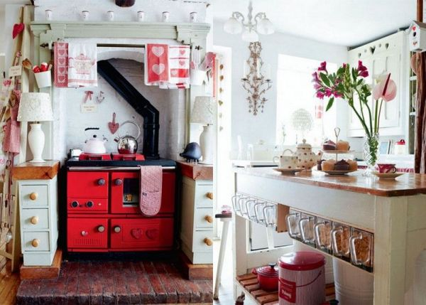 red and white vintage kitchen Cure Red And White Retro Kitchen Pictures, Photos, and