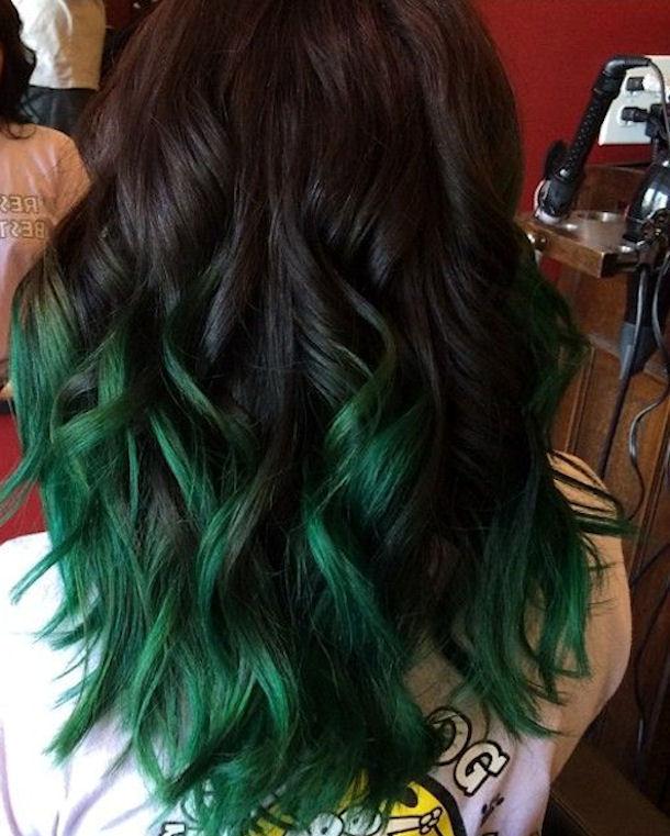 dark green ombre hair