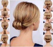 chic rolled updo hairstyle