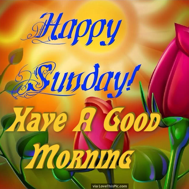 happy sunday have a