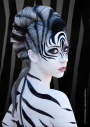 zebra makeup ideas