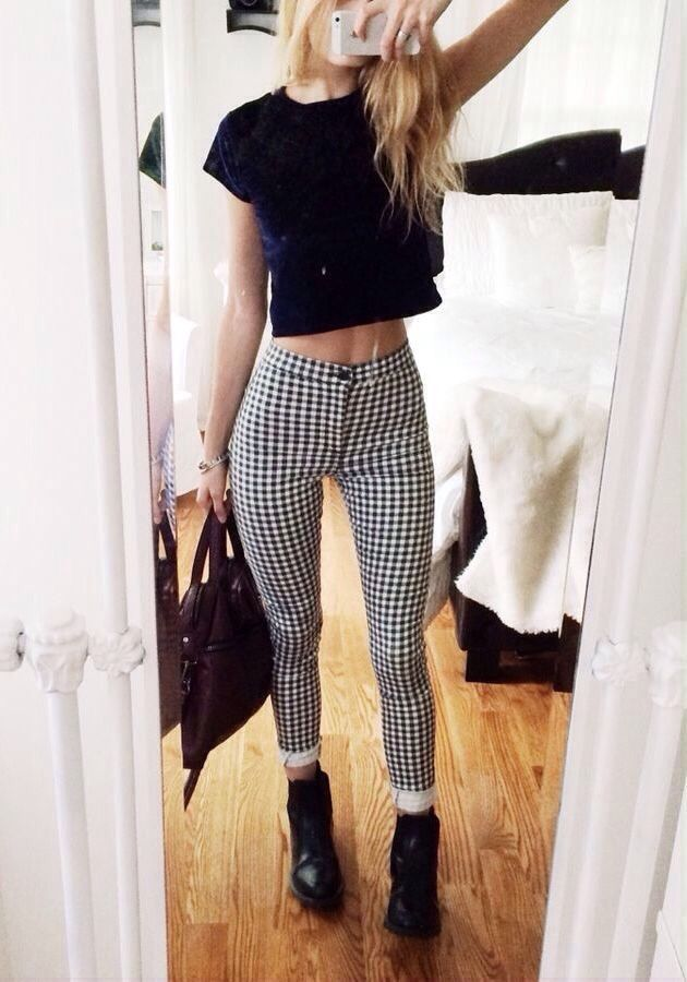 Checkered Pants And Black Boots Pictures Photos and Images for Facebook Tumblr Pinterest
