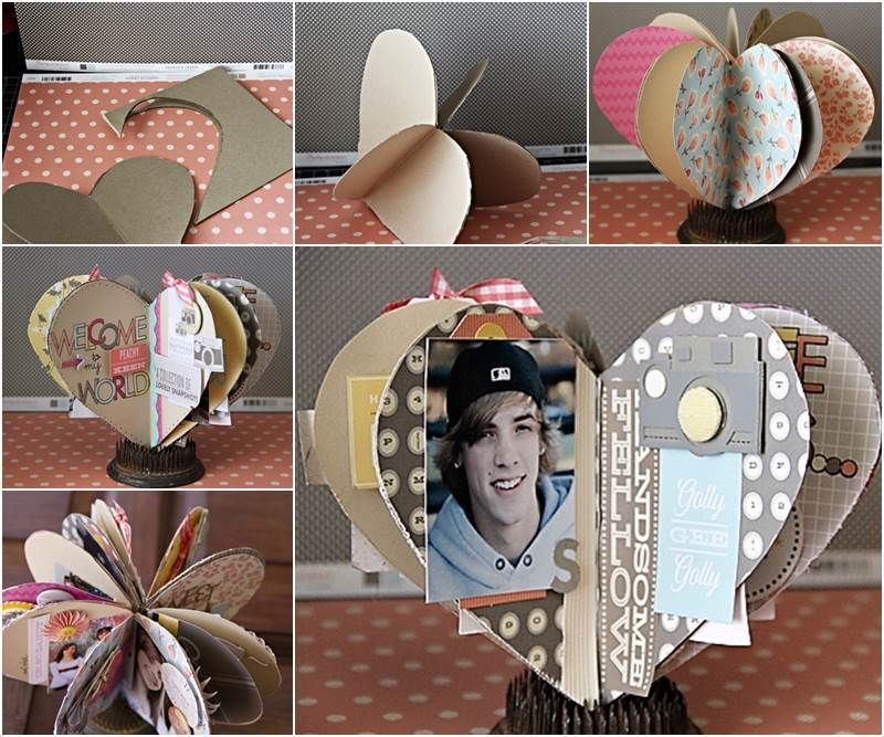 DIY Heart Shaped Mini Album Pictures Photos and Images for Facebook Tumblr Pinterest and